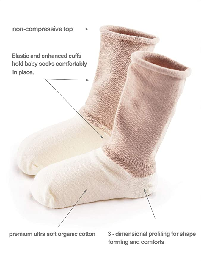 Amazon.com: babamate paquete de 3 bebé calcetines calcetines ...