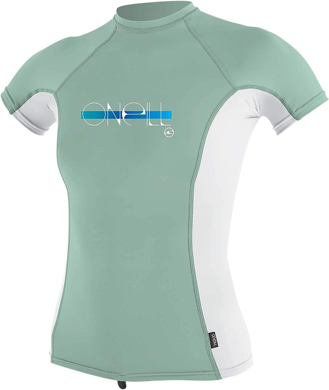 O/'Neill Youth Girls Premium Skins Short Sleeve Rash Vest Top Mint 4175 Surfing