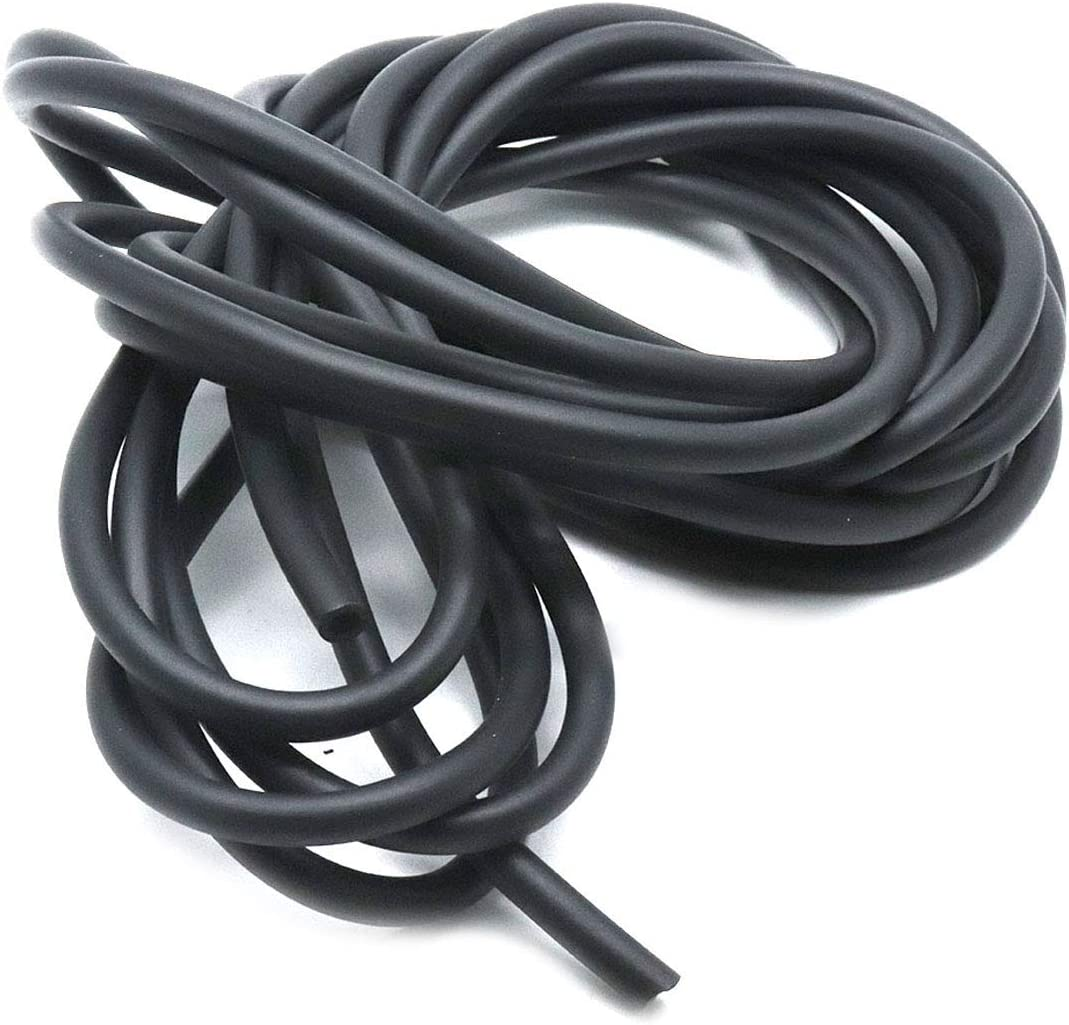 "AUTUT Black Automotive Silicone Heat Resistant Vacuum Tubing Hose (5/32"" ID, 16.4ft Length)"
