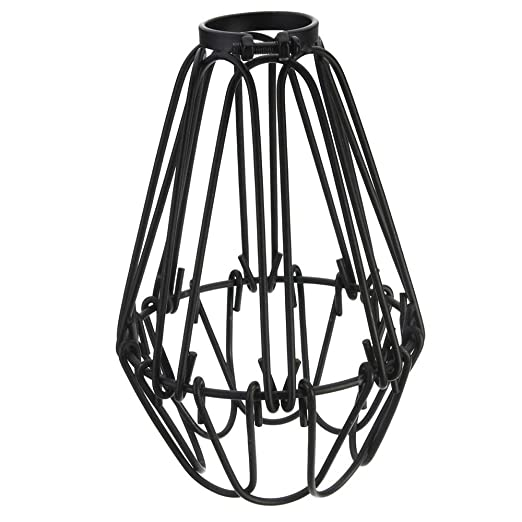 Adjustable wire cage lampshade motent vintage industrial metal adjustable wire cage lampshade motent vintage industrial metal bird cage bulb guard island pendant lighting keyboard keysfo Images