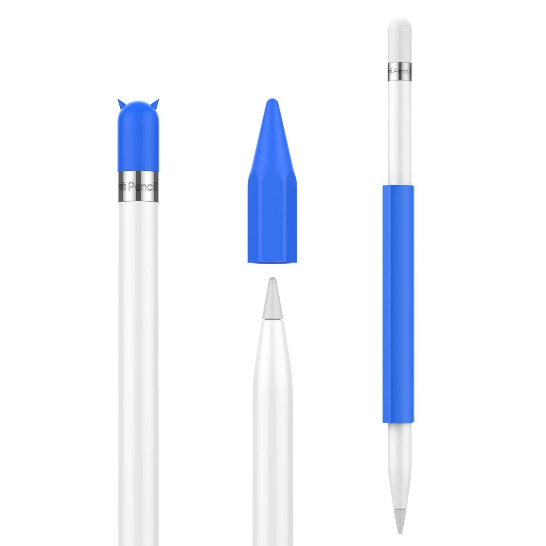 iPad 9.7 2018 MoKo Pencil Case Holder pour Apple Pencil Magnetic Silicone Pencil Holder Grip Pochette Housse avec Cap pour New iPad Air 2019//iPad Mini 2019 iPad Pro 9.7// Pro10.5//Pro12.9,Black