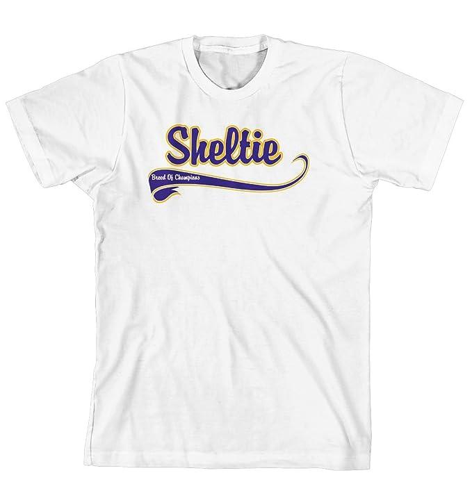 b2484ac7b426 Amazon.com  Cahoon s Closet Sheltie Breed of Champion Brand T-Shirt   Clothing