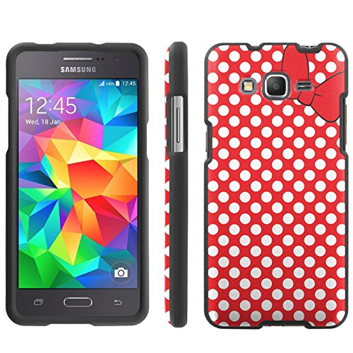 Disney Duos (Mobiflare, Slim Guard Armor Phone Case, for [Samsung Galaxy Grand Prime] - Red/White Polk-a-Dots with)