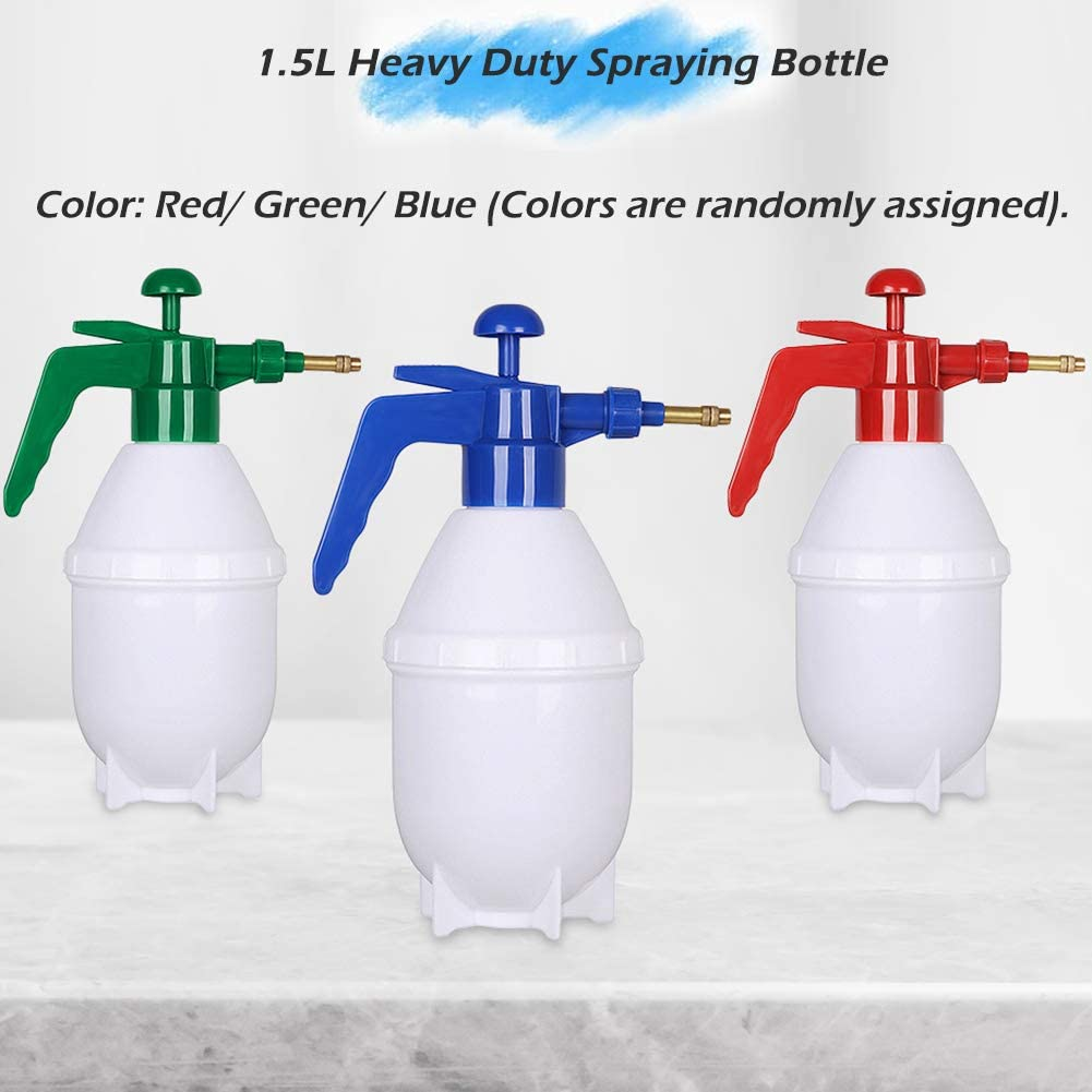 Cosywell Plastic Spray Bottles Heavy Duty Spraying Bottle Spray Bottle for Gardening Leakproof Mist Water Bottle 51oz //1.5L for Cleaning Solutions All-Purpose Adjustable Head Sprayer