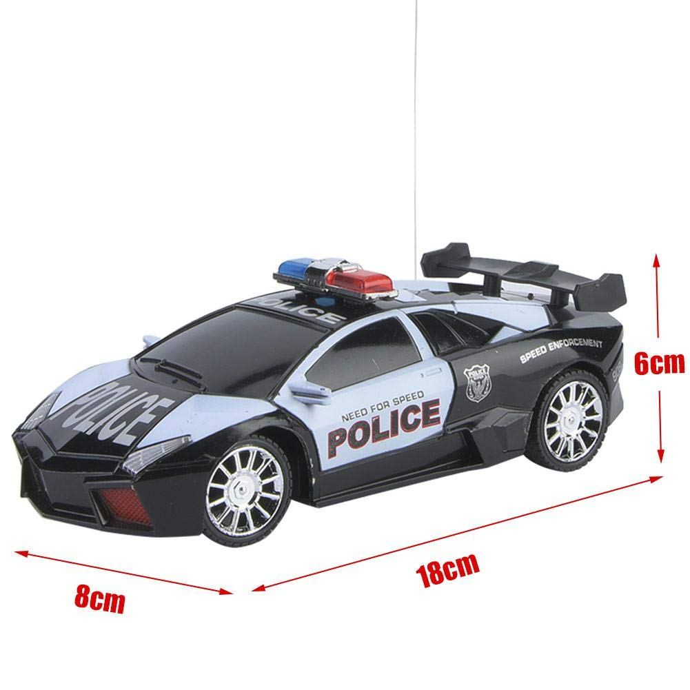 1:24 RC Vehicle Toys Black Electric Police Car Model Remote Control RC Car Kids Educational RC Vehicle Toys