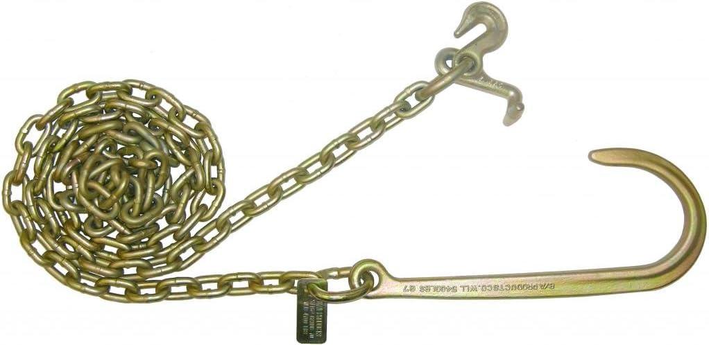 Grade 70 One Pair BA Products N711-6AJ6 6 J Hook Mini J Hook Wrecker Tow Truck Chain