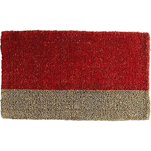 Cheap  Tag Two-Tone Coir Mat, Decorative All-Season Mat for the Front Porch, Patio..