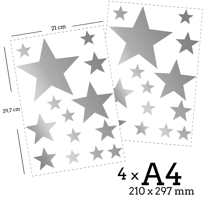 Vinilo para Pared Adhesivo Estrella 25, azul