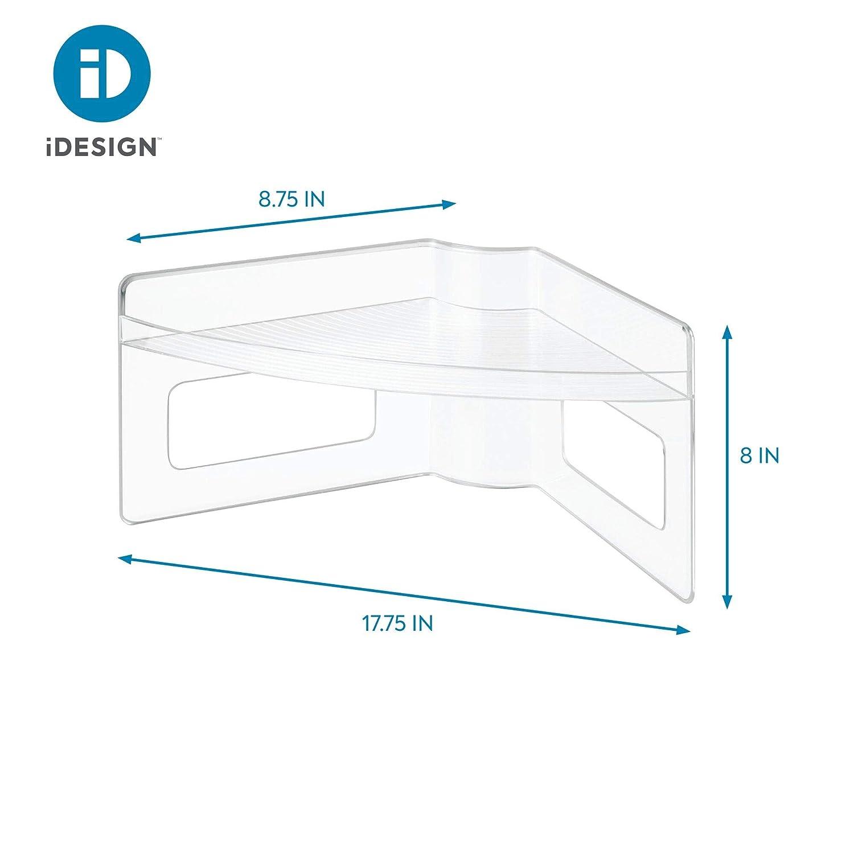 Plastik Durchsichtig//Clear 45.0088 x 22.352 x 20.32 cm iDesign 62650EU Lazy Susan Organizer f/ür K/üchenschr/änke