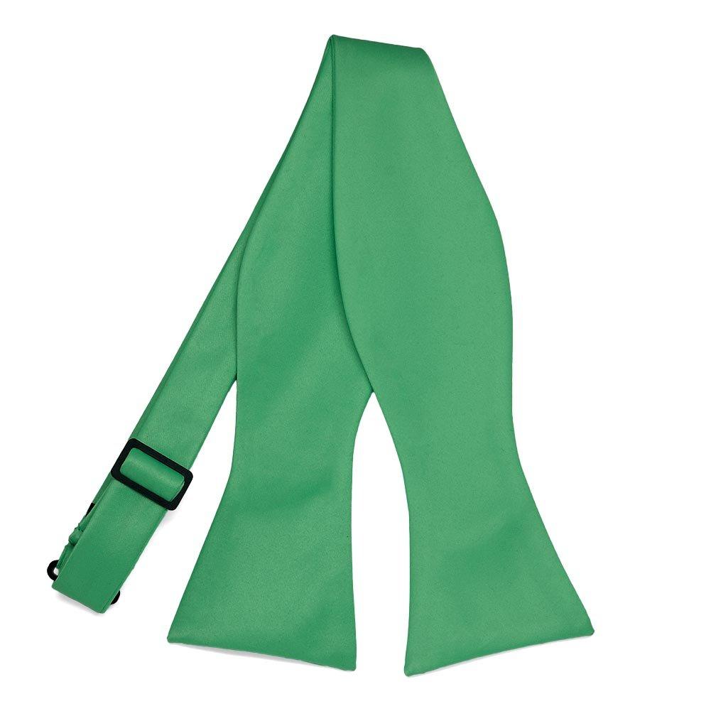 TieMart Emerald Green Self-Tie Bow Tie