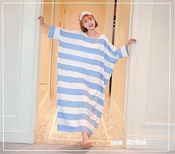 Gran tamaño pijama Go Out de llevar un camisón transparente mujeres embarazadas pijamas de algodón ropa