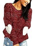 shermie Sweater Women Heart Pattern Long Sleeve Round Neck