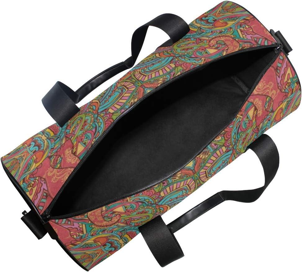 OuLian Duffel Bags Skull Flower Womens Gym Yoga Bag Small Fun Sports Bag for Men