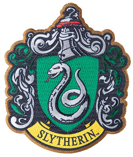 Simplicity 1932172001 Harry Potter Slytherin House Emblem Applique Clothing Iron On Patch, 3.5'' x - Applique House