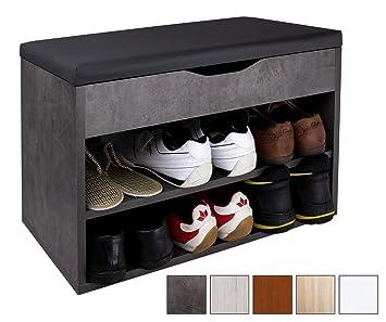 Ricoo Meuble De Rangement Pour Chaussure Wm032 Bg A Banc Armoire