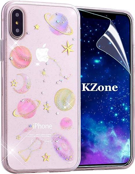 OKZone Cover iPhone XR Custodia Lucciante con Brillantini