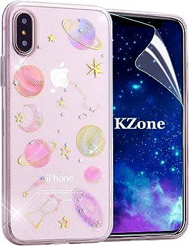 OKZone Funda iPhone XS MAX, [Serie Cielo Estrellado] Cárcasa Brilla Glitter Brillante TPU Silicona Teléfono Smartphone Funda Móvil Case [Protección a Pantalla y Cámara] para Apple iPhone XS MAX: Amazon.es: Electrónica