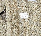 DINIJ Jute Area Rugs 8'x10' Handmade Braided