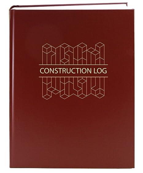 amazon com bookfactory construction daily activity log book 365