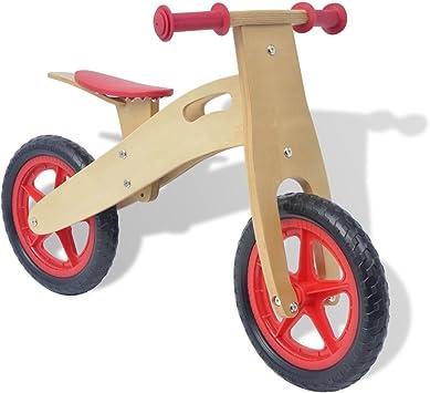 vidaXL Bicicleta de Balance Madera roja: Amazon.es: Juguetes y juegos