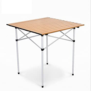 GHM Mesa plegable de aluminio al aire libre 2.9KG portátil Camping Picnic Barbacoa Mesas multifunción