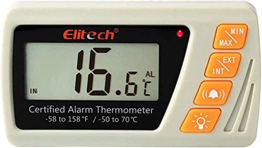 Elitech VT-10 - Termómetro de vacuna con sonda de botella de ...