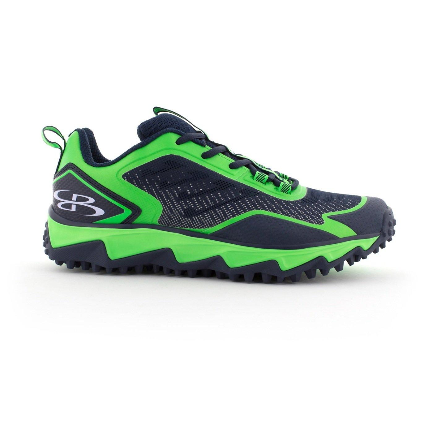 BoombahメンズBerzerk Turf Shoes – 13色オプション – 複数のサイズ B076B2HCVS 7.5 Navy/Lime Green Navy/Lime Green 7.5