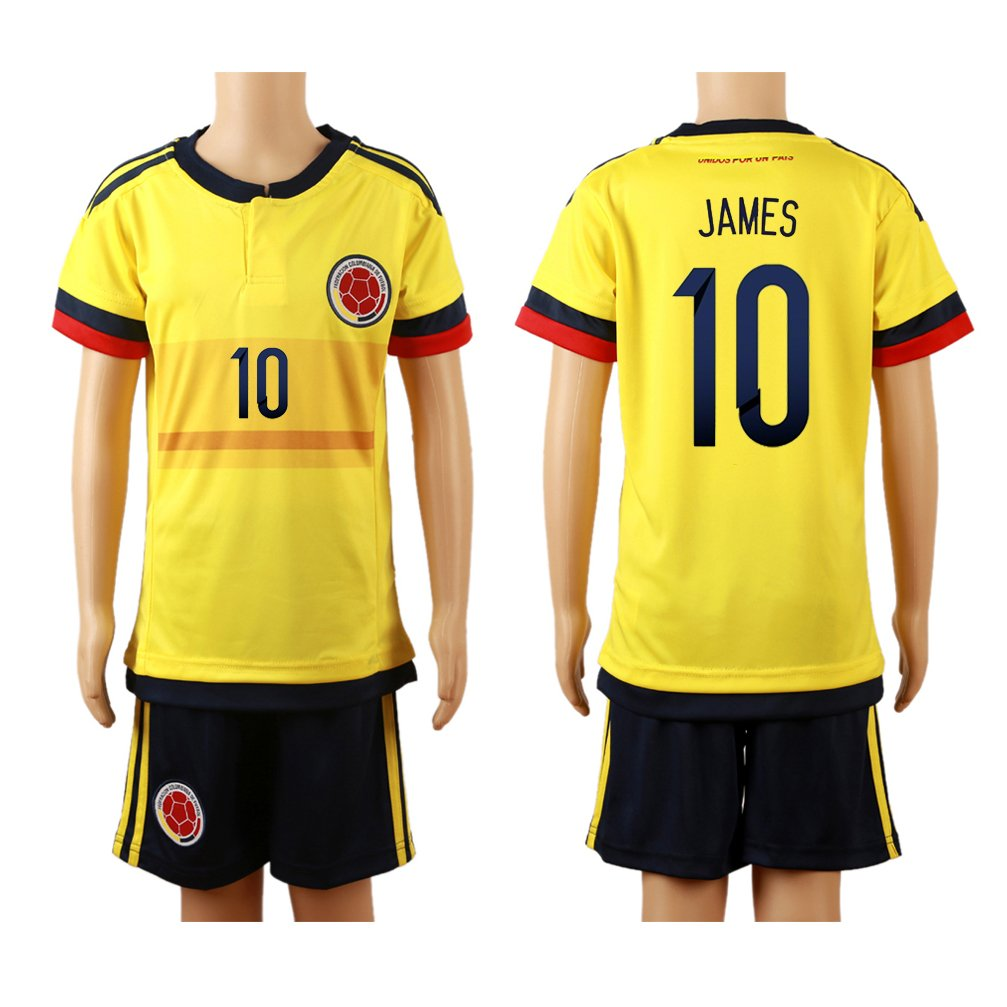 50344785aaa ... White - 71.24 Amazon.com 201516 Colombia Yellow (Home) 10 James  Rodriguez Football Soccer Kids Jersey ...