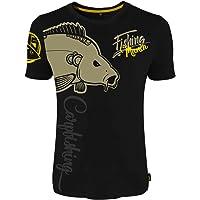 HOTSPOT DESIGN Fishing Mania Carpfishing, Negro, Camiseta,