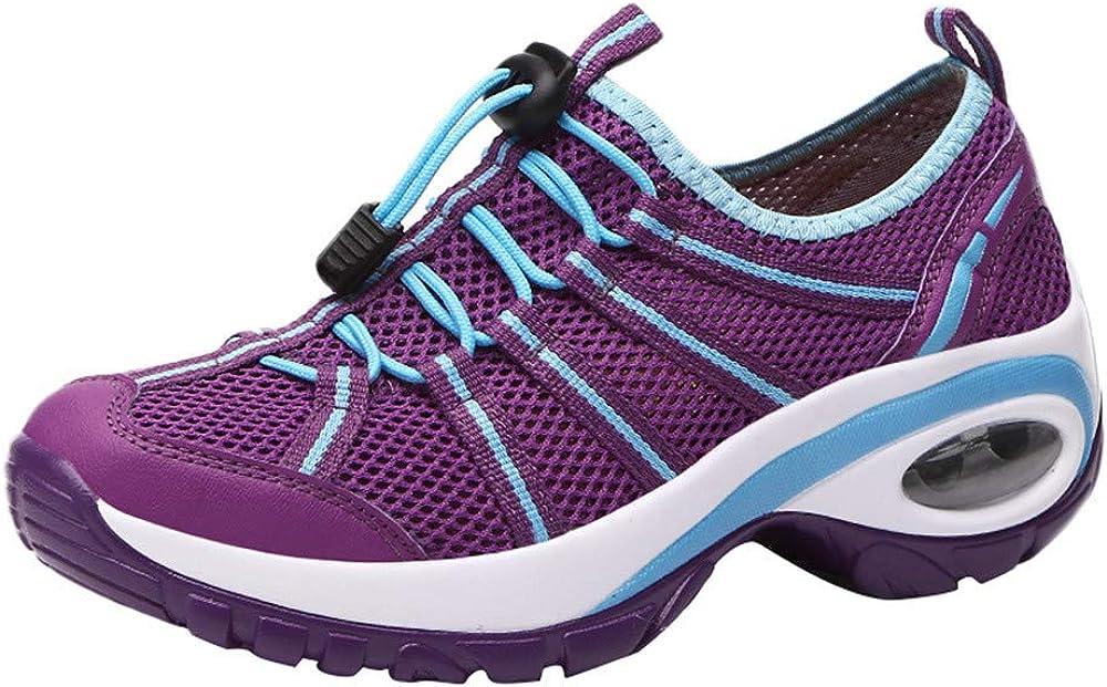 YiYLunneo Zapatillas Deportivas de Mujer 2019 Cuero Zapato Informales Zapatos con amortiguación de Aire con Suela Gruesa Calzado de Deporte CN 35-40: Amazon.es: Ropa y accesorios
