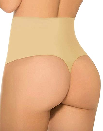 6c377f9f73 FLORATA 3-5 Days Delivery Body Shaper Thong G String High Waist Tummy  Control Invisible Underwear Thong at Amazon Women s Clothing store