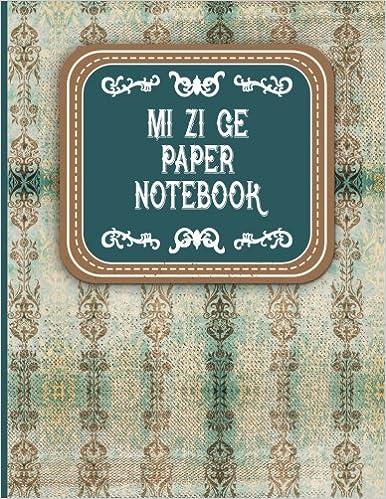 Amazon com: Mi Zi Ge Paper Notebook: Chinese Writing