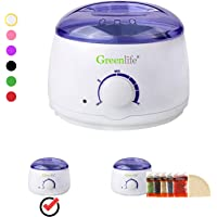 GreenLife® Hair Removal Wax Warmer /Hair Removal Wax Warmer Kit with 5 Flavors Hard Wax Beans and 20 Wax Applicator Sticks (Wax Warmer Only, White)