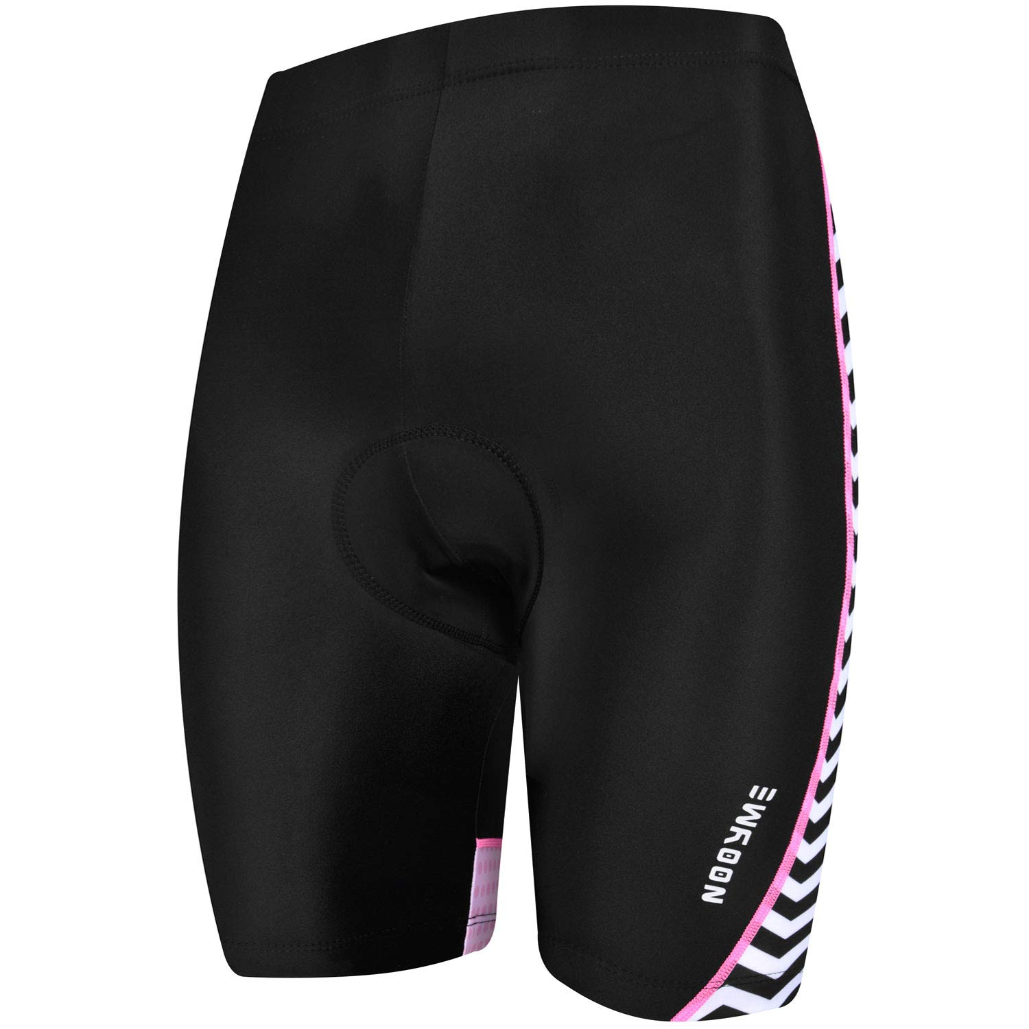 NOOYME Padded Bike Shorts Women 3D Padding Bicycle Womens Cycling Shorts (Medium, Green-Pink) by NOOYME