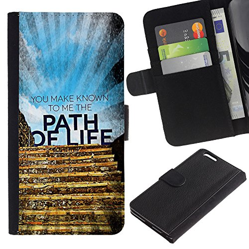 EuroCase - Apple Iphone 6 PLUS 5.5 - YOU MAKE KNOWN TO ME THE PATH OF LIFE - Cuir PU Coverture Shell Armure Coque Coq Cas Etui Housse Case Cover