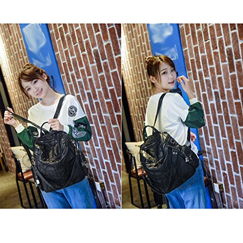 Ms Cosmetic Fhrr Backpack Sheepskin Traveling Student School Sj Ladies Genuine Leather Bag vq1a1