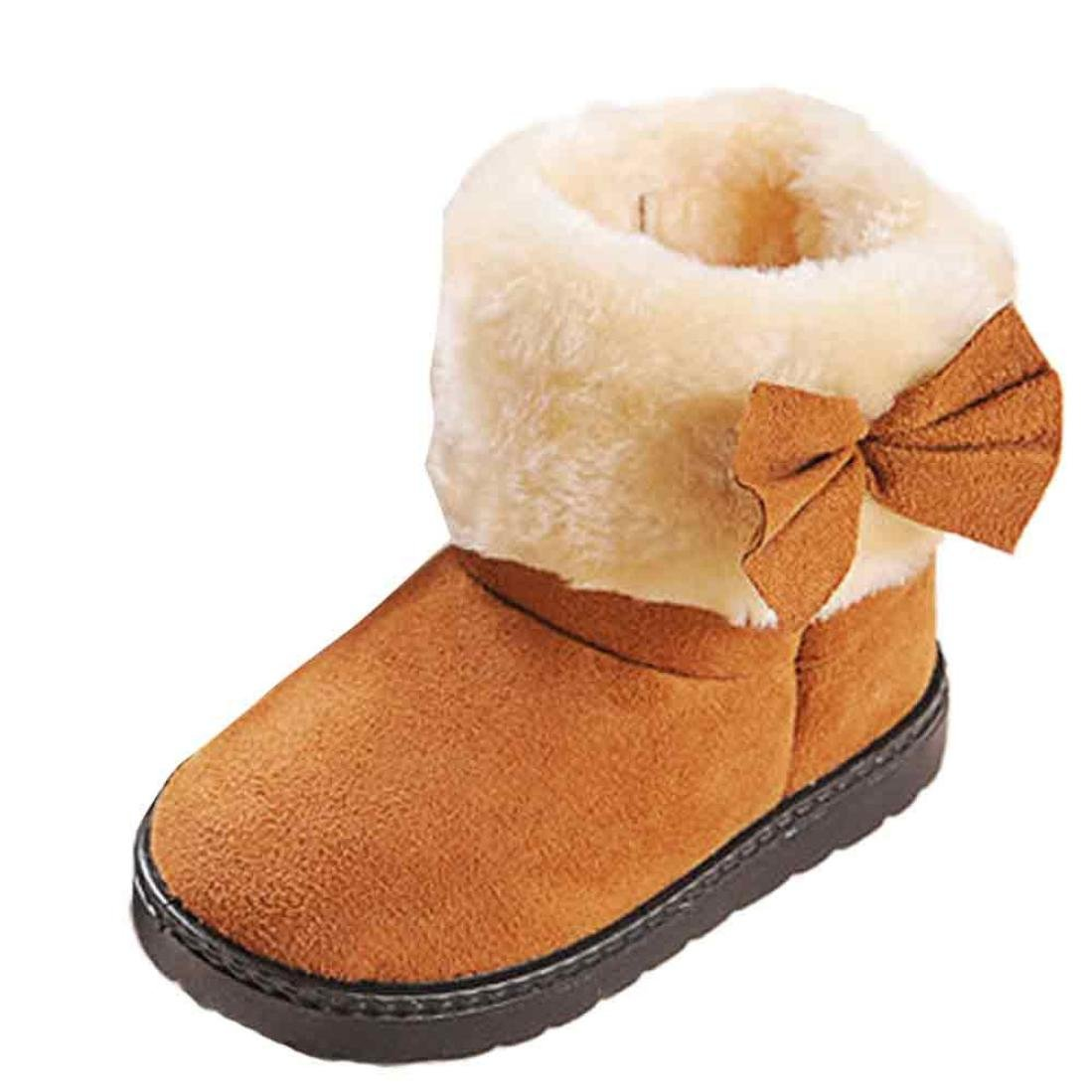 Amlaiworld Children Shoes,Fashion Bowknot Winter Baby Girl Style Cotton Boot Warm Snow Boots