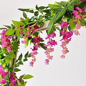 LI HUA CAT Pack of 3 Artificial Wisteria Silk Flower Wedding Decorations Home Garden Party Decor Simulation Flower 65