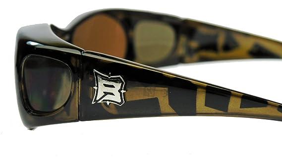 PBV Polarisierte Sonnenbrille Überbrille für Brillenträger Fit over Polbrille Herren Damen MODELLWAHL (Mod.3 : Glossy Black ) jjmhMu