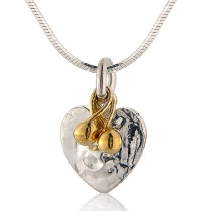 403a205f703e32 Handmade 925 Sterling Silver Heart Bead Pendant Necklace with Free Gift  Packaging by Otis Jaxon: Otis Jaxon: Amazon.co.uk: Jewellery