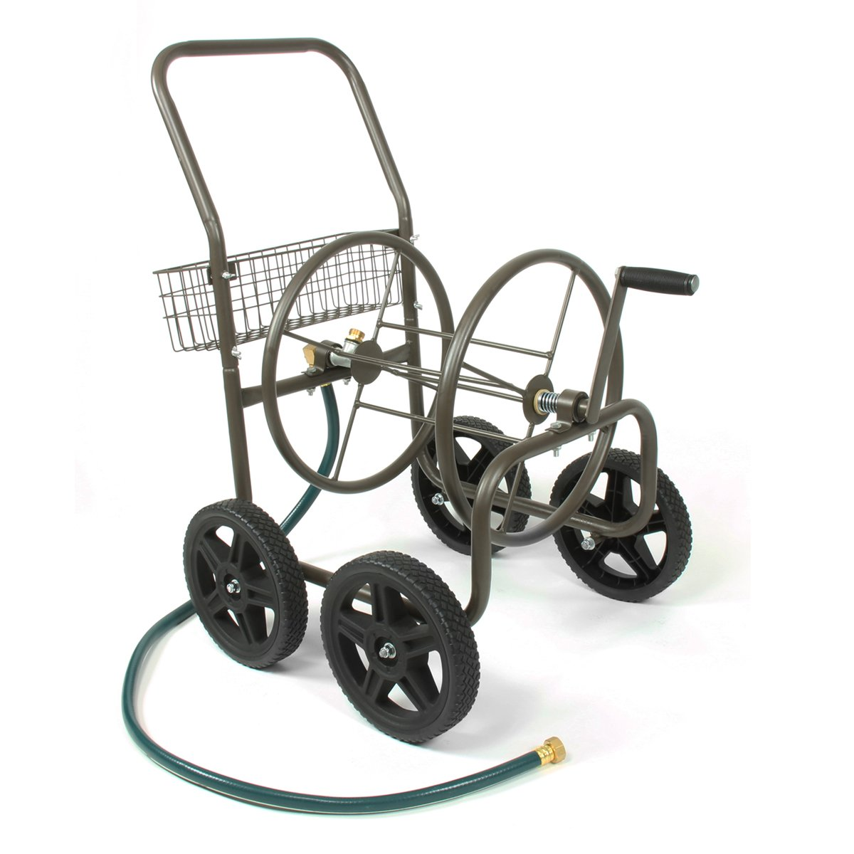 Liberty Garden 871-S Residential Grade 4-Wheel Garden Hose Reel Cart, Holds 250-Feet of 5/8-Inch Hose - Bronze by Liberty Garden Products