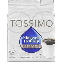 Tassimo Maxwell House Dark Roast Coffee Single Serve T-Discs,  14 T-Discs