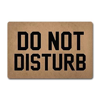 Amazoncom Ziqing Entrance Doormat Do Not Disturb Doormat Funny