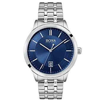 30c0991c1 Hugo Boss Men's Blue Dial Color Stainless Steel Strap Watch ...