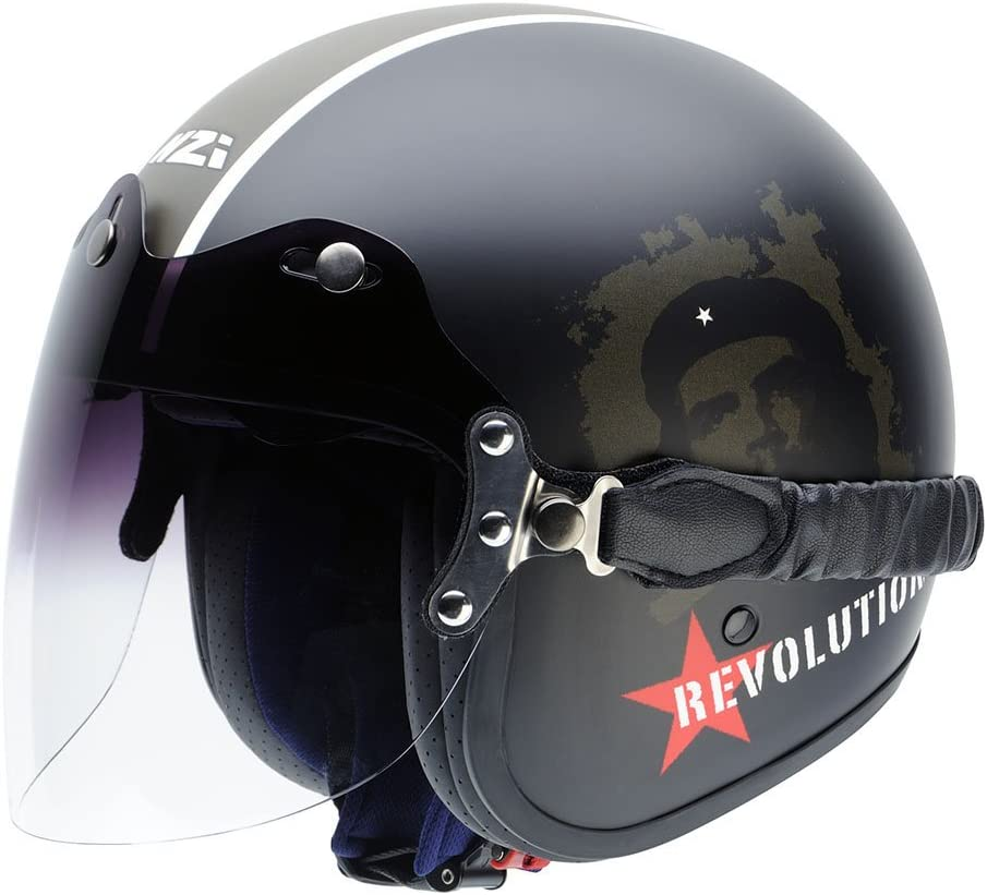 NZI Herren 150279G051M Capital2 Duo Offenes Gesicht Motorradhelm M Matt Antrazit