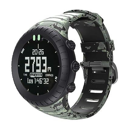 Reemplazo de Silicona con Correa de Banda para el Reloj Inteligente Compatible con SUUNTO Core Silicona Ajustable Longitud: 140-230mm riou