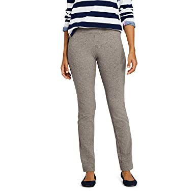 72befd61 Lands' End Women's Starfish Slim Leg Elastic Waist Pants Mid Rise at Amazon  Women's Clothing store: