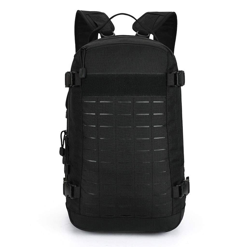 noir  sac à dos Randonnée en Plein Air Sac De Voyage Camping Sac à Dos pour Hommes, Sac De Montagne Imperméable en Nylon Grande Capacité Noir 30L