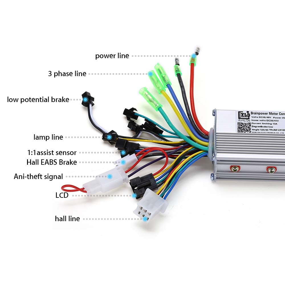 Amazon.com: WonVon Motor Brushless Controller, 36V 48V 350W ...
