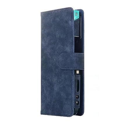 Funda protectora iQOS funda de transporte con tapa soporte para cigarrillo electrónico, de cuero sintético